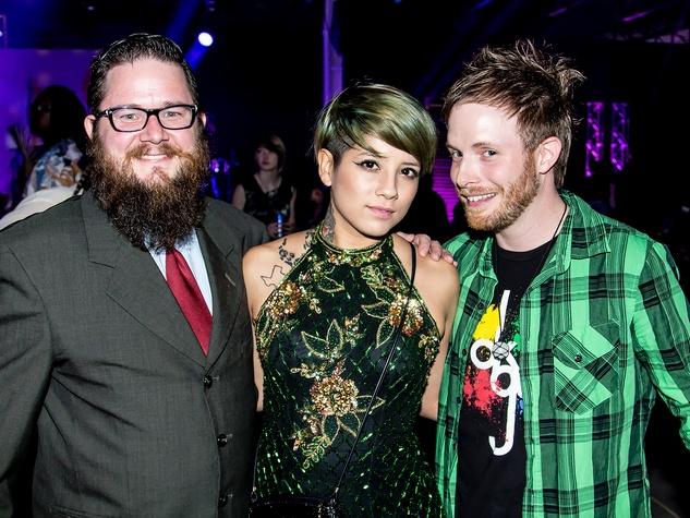 Nicholas Grant, Erica Vasquez, Michael Brunner, the pin show