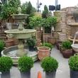 River Oaks Plant House statues, planting pots, plants