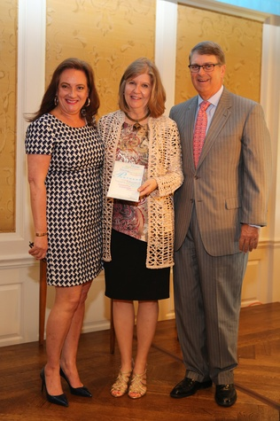 Partners Luncheon 4/16, Sara Howell, Suzie Conway, Phil Conway