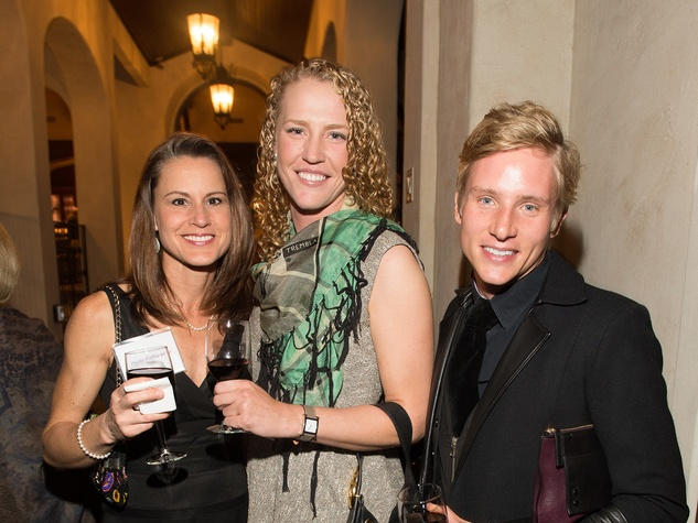 Heidi Hottinger, from left, Morgan Erbstoesser and Eric Aho at the Pin Oak Charity Horse Show kick-off February 2014