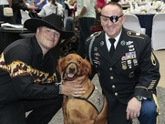 Houston Impact A Hero Gala May 2013 Richard Massimino, dog Koa and Staff Sergeant John Daniel Shannon