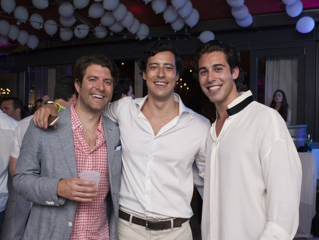 Sage Harrison, Horacio Moros, Dylan Elchami, white party
