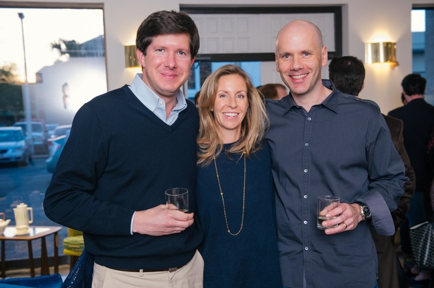 8 Kevin and Elissa Lorenzen, from left, with John Werhrle at the Lynn Goode Vintage opening reception March 2014
