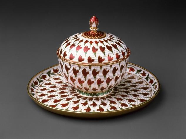 MFAH, Arts of Islamic Lands, al-Sabah Collection, November 2012, Lidded cup and tray