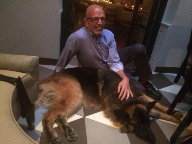 Johnny Cash of K9s4COPS rests at Harlows in New York