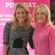 Emcee Jane Slater and Honorary Host Tracy Austin, Challenger Dallas Pink Day
