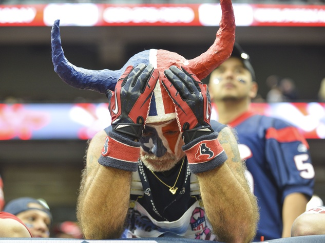 Distraught Texans fan