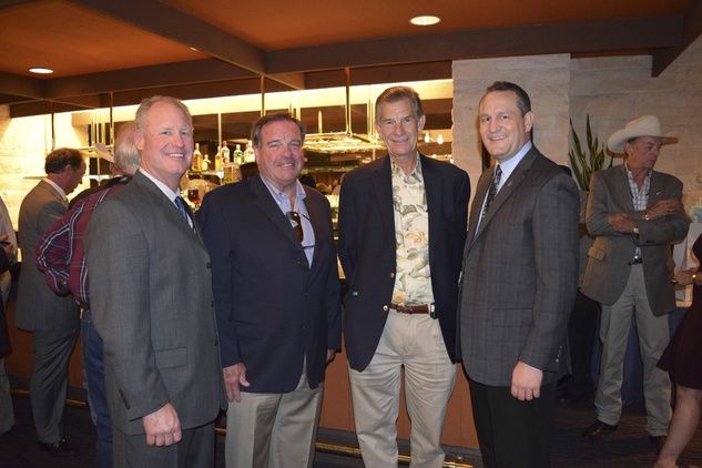 2 Dan Cheney, from left, Chris Richardson, Joe Van Matre and Joel Cowley at the Houston Livestock Show and Rodeo Trailblazer honoree reception October 2014