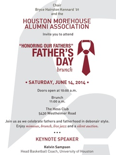 "Houston Morehouse Alumni Association hosts ""Honoring Our Fathers"" Father's Day Brunch"