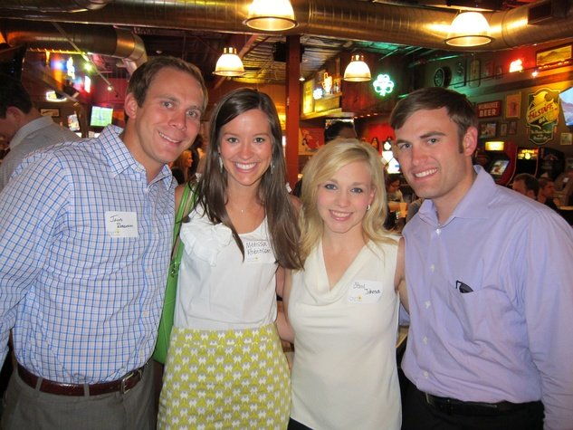 030_ Jacob and Melissa Robinson and Stacy and Jason Johnson _Friends of DePelchin Happy Hour Little Woodrow's