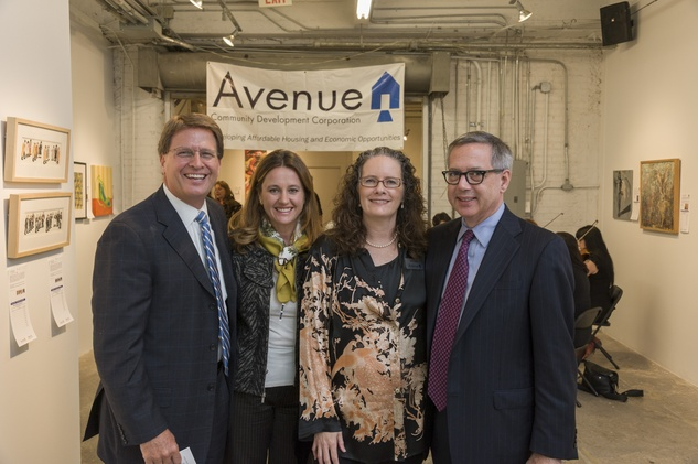 Steve Stephens and Anne-Laure Stephens, from left, Mary Lawler and Peter Kelly at Art on the Avenue November 2013