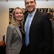 Julie Stephenson and Joel Glover at the Alley Young Professionals holiday party December 2013
