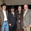 Ted Gaylord, from left, Archie Thompson, Sharleen Walkoviak and Ed McMahon at the HLSR Hide Party January 2014