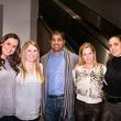 Cotti Villagomez, from left, Jeneanne Orlowski, Mode Gumpeni, Nicole Papandrea and Sandra Knight at the MFAH Art Crowd Party November 2014