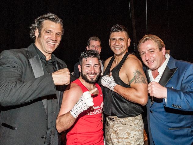 "Houston, Black Tie Boxing Benefiting Lone Survivor Foundation, Feb 2017, Lou Savarese, Eric Morante, Alex ""Titanium"" Del Rio, Ben Berg"
