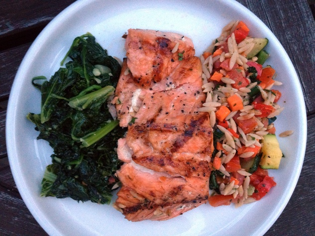 Central Market healthy meal with salmon