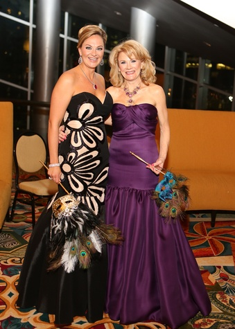 Rachel Regan, left, and Lisa Simon at the Winter Ball January 2014