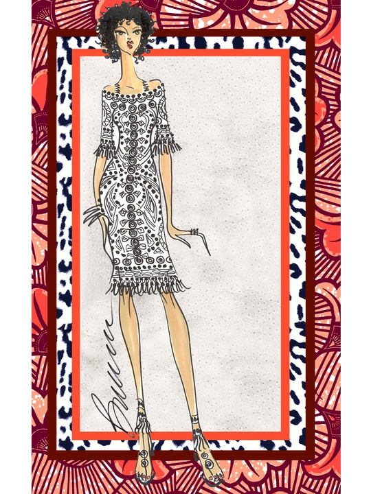 Fashion Week spring 2015 sketch Sept. 2014 Yoana Baraschi