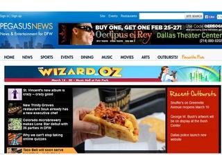 Pegasus News homepage