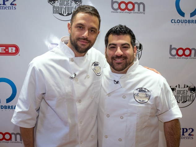 Houston, Kitchen Throwdown with Whitney Mercilus, Jan 2017, Chef Sabin Lomac and Chef Kevin Naderi