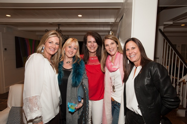 3A- Anne Carl, from left, Courtney Elias, Susan Hanson, Elise Reckling and Andi Scheinin at the Clayton Dabney fundraiser March 2014
