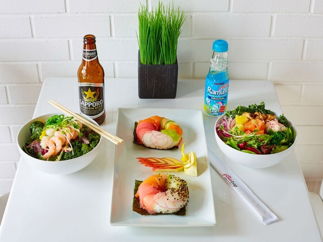 Dallas poke restaurant bops up on lemmon ave with social for Go fish poke dallas