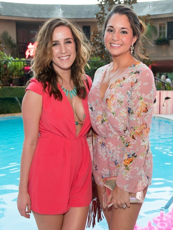 7 Jourdan Moore, left, and Diana Yera at the Pink Party at Hotel ZaZa July 2014