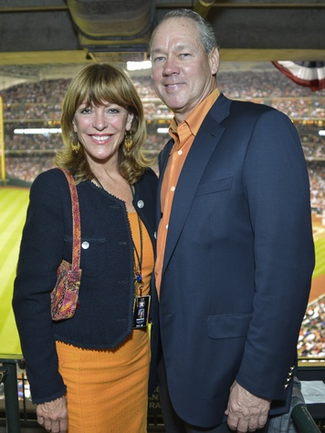 0008, Astros Opening Day Owner's Box, April 2013, Franci Crane, Jim Crane