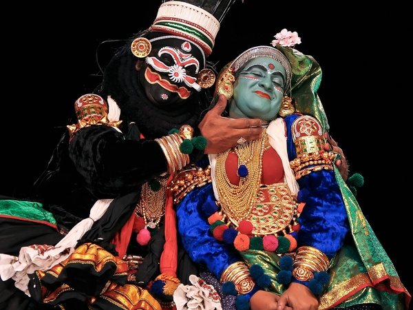 Nancy, dance photography, October 2012, Kathakali artists of Kalamandalam in performance