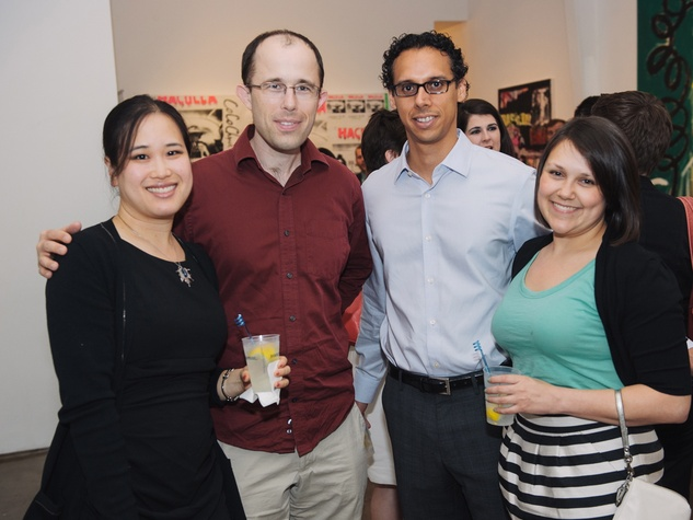 Houston Symphony YP MozART and Mixers May 2013 Dr. Christine Le, Rob Hallenbeck, Jose Ortiz and Elise Austin