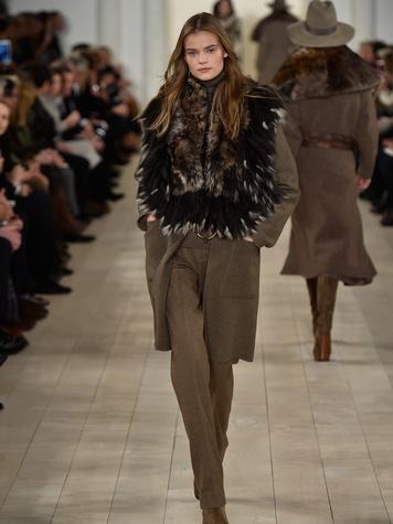 Clifford Fashion Week New York fall 2015 Ralph Lauren February 2015 Look 12