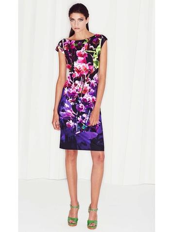 Escada spring 2015 and resort September 2014 Look 11 Spring Summer 2015 Delwys Dress