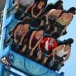 Galveston Island Historic Pleasure Pier the Iron Shark roller coaster