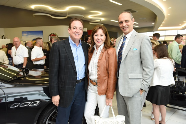 News, Shelby, Helfman Maserati opening, June 2015, Anne CarlAlan and Elizabeth Stein, Federico Farina