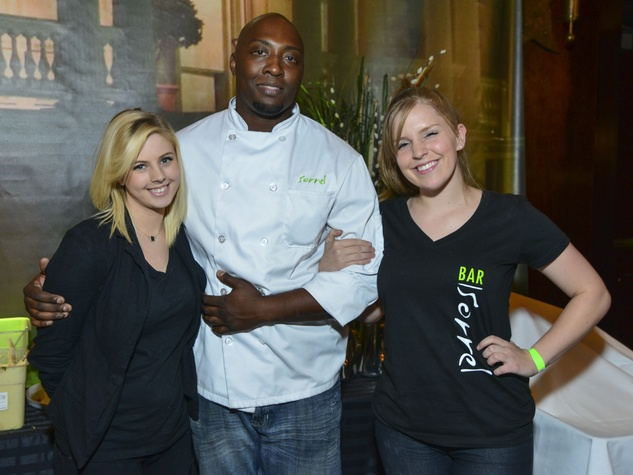 7 Taylor Govea, from left, Chef Christopher Andus of Sorrell Urban Bistro and Chelsea Reif at the March of Dimes Signature Chefs event October 2013