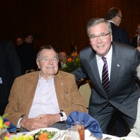 5 President George H.W. Bush, from left, Jeb Bush and Barbara Bush at the Salvation Army luncheon November 2013