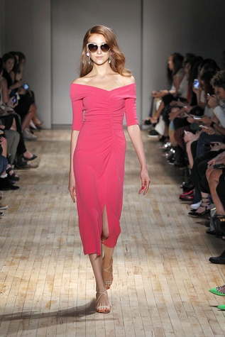 Jenny Packham spring 2015 collection mauve dress