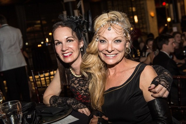 Beth Muecke, left, and Page Parkes at the Stages Repertory Theatre Gala April 2015