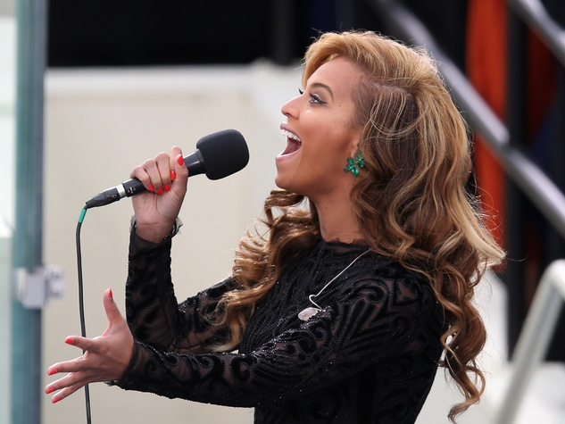 Beyonce, singing, inauguration, January 2013