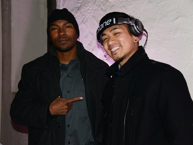 D.J. Mav, left, and D.J. M-Cue at the Hermann Park Conservancy's Urban Green event November 2014