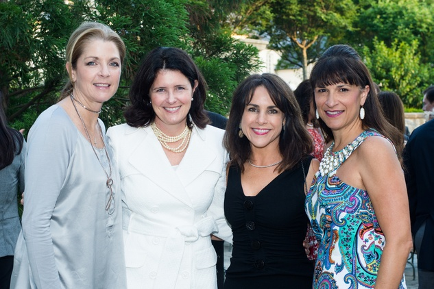 Paige Fertitta, from left, Karen Thompson, Maria Bush and Deanna Barton at the Celebration of Reading kick-off April 2014