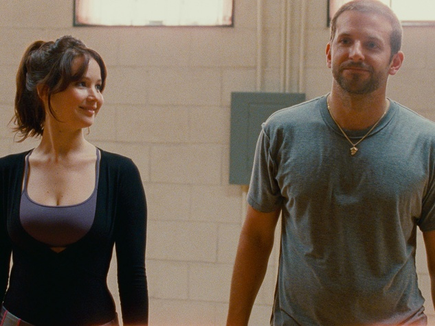 Houston Cinema Arts Festival, October 2012, Silver Linings Playbook, Bradley Cooper and Jennifer Lawrence practicing behind the scenes