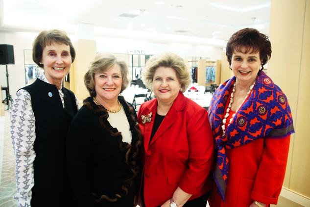 News, Shelby, Salvation Army Tea, Feb. 2015, Gina Sauor, Lucy Lewis, Brenda Devore, Carol Sharpe