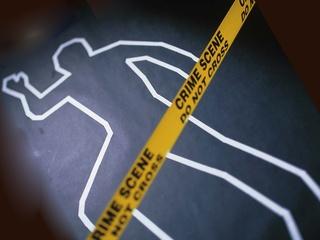 body chalk outline murder crime scene