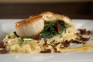 Diver Scallops with Lemon Risotto