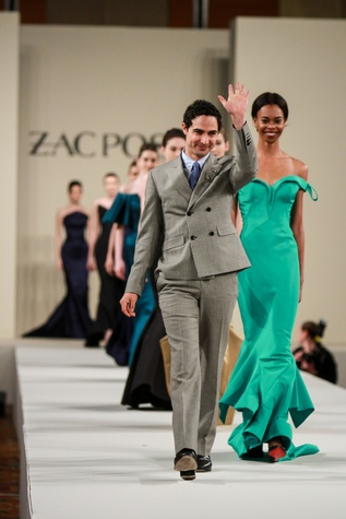 Zac Posen runway show at Best Dressed luncheon