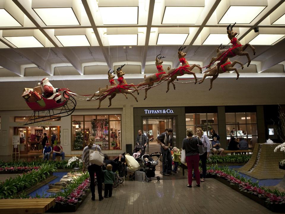 Holiday decoratins at NorthPark