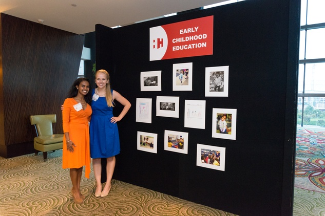 7 Helen Hailmariam, left, and Emily Hanno at the Teach for America event November 2014.