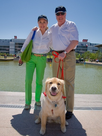 Nancy and Rich Kinder with dog Sadie October 2013