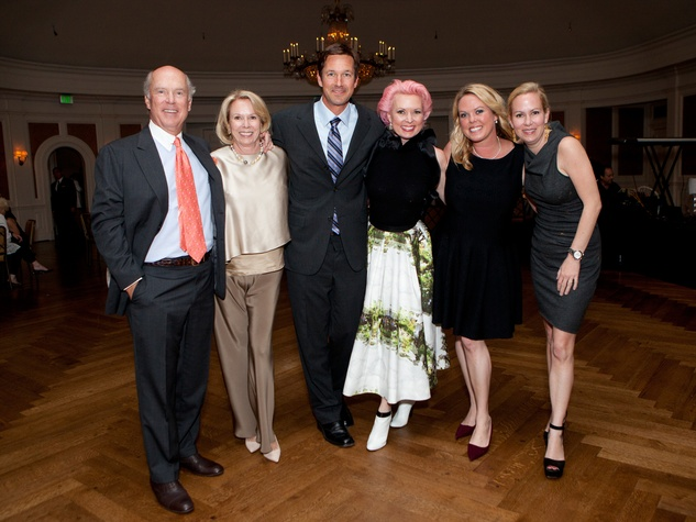 Bill and Marie Wise, from left, Pete Figge, Vivian Wise, Mary Elizabeth Sand and Genna Evans at the SIRE Under the Stars event April 2014